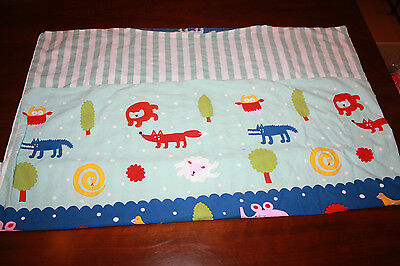 IKEA Forest Animal Baby Crib Toddler Bed Duvet Cover 40x46in