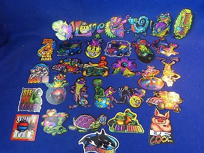 """Vintage Vending Machine Stickers """"FROGS, ALIENS, & SAYINGS"""" Thirty (30) Stickers"""