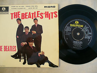 BEATLES EP THE BEATLES HITS  very rare uk third pressing and .....near mint !!