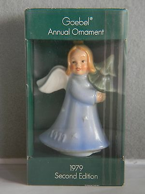 "Goebel Angel Ornament In Box - 1979 Second Edition - 3.75"" - W. Germany"