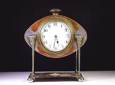 ANTIQUE AE JONES METAL NEOCLASSICAL MANTLE CLOCK MODEL NO1752 c1890