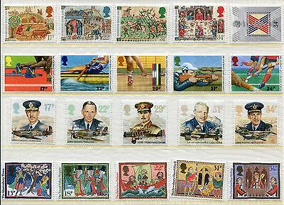 GB Great Britain 1986 Commemorative Sets - 10 Sets, 38 Stamps, NH UMM