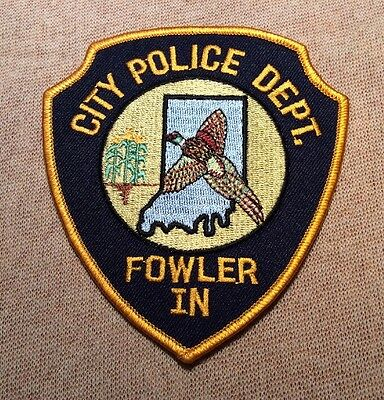 IN Fowler Indiana Police Patch