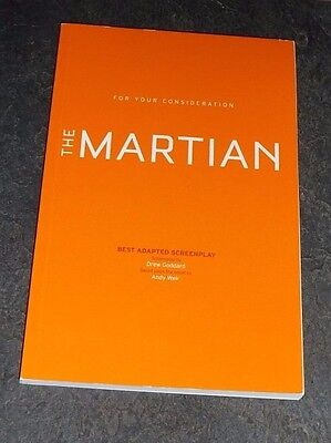 THE MARTIAN For Your Consideration Best Adapted Screenplay Script Oscar Nom