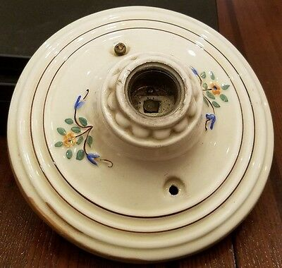 Vintage Porcelain Ceiling Light Shabby Floral Chic Sconce Lighting Fixture-37T!