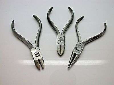 3 Watchmakers Pliers Made in Sweden in Good Condition Bench Tool - 12EE