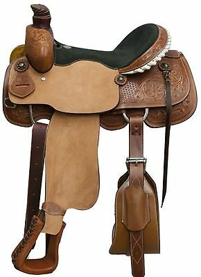 "16"" Circle S Roping Saddle W/ Floral and Basket Weave Tooling! 5 Year Warranty!"