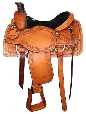 "16"" Circle S Roping Saddle With Suede Leather Seat! Includes Roping Warranty!"