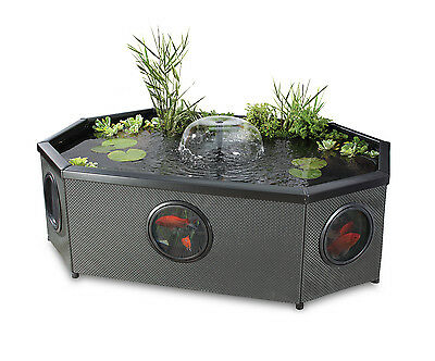 Affinity Grand Oval Mocha Weave Fish Pond 592 litres - includes pump/filter/uvc