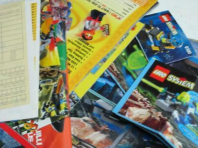 Lego Instruction Manuals And Brochures, 12 Instruction Books And Extras