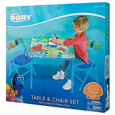 Finding Nemo Dory Ocean  Kids Activity Folding Table and Two Chairs Set NEW