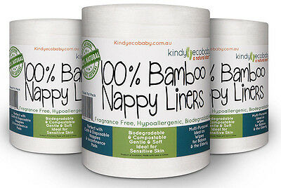 1200 X Flushable Bamboo Liners, Wipes, Cloth Nappy, Disposable, Biodegradable