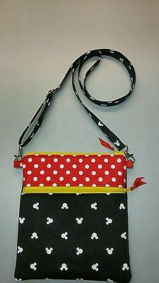 Disney Minnie Mouse  messenger purse cross body bag handmade