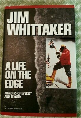 Jim Whittaker A Life On The Edge autograph signed 1st edition book