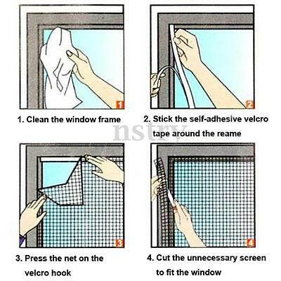 130x150cm Window Door Net Curtain Protector Resist Insect Mosquito Fly Bug Mesh
