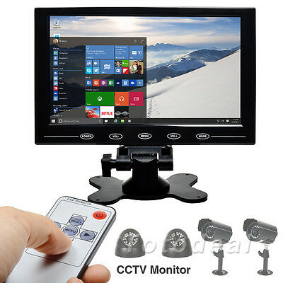 """New 9"""" HD TFT LCD Color Car Monitor HDMI VGA PC CCTV Screen Display Touch Button"""