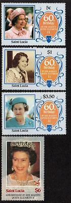 Saint Lucia MNH 1986 The 60th Anniversary of the Birth of Queen Elizabeth II