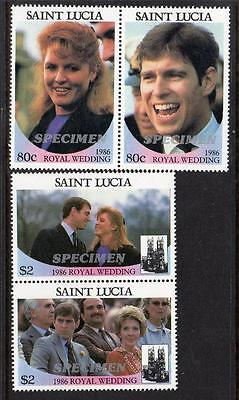 Saint Lucia MNH 1986 Royal Wedding of Prince Andrew and Miss Sarah Ferguson