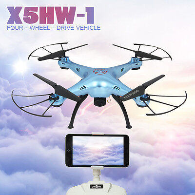 X5HW-1 WIFI FPV With 2.0MP HD Camera 2.4G 4CH 6Axis RC Quadcopter Kids Toy Gifts