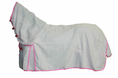 Axiom Polycotton Pink Ripstop Unlined Horse Combo Rug 4'9