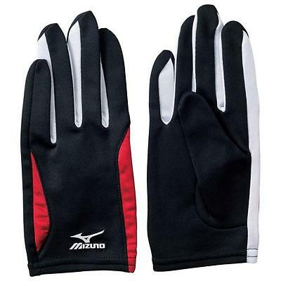 Mizuno Athletics Racing Glove Black  China Red U2MY650296 Size: S~L
