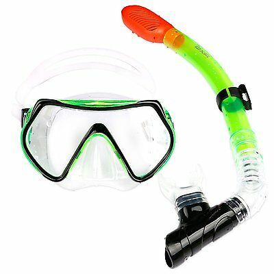 OXA Scuba Diving Snorkelling Set inc Dry Top Snorkel and Windows Tempered Glass