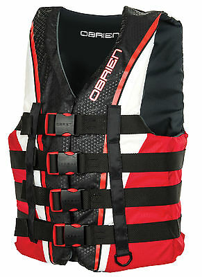 O'brien 4 Buckle Pro Wake/ Ski/ Jetski Vest Impact Jacket Red