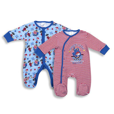 Baby Babies Boys Pirate Sleepsuit Printed All-In-One Newborn-6 Months BABYTOWN