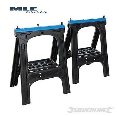 Silverline Saw Horse 2pk 200kg Height 800mm building woodwork 973048