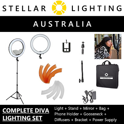 "Stellar Lighting - Diva II LED Ring Light - Dimmable 49cm 19"" - Diva 2 - Luvo"