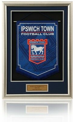 IPSWICH TOWN FC. 2011/12 Current Squad Hand Signed Deep Framed Pennant AFTAL COA