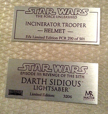 Collectables and props Plaque - Custom plaques different sizes available