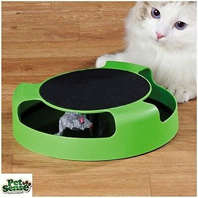 Petsense Catch The Mouse Moving Play Toy Interactive Plush Scratching Claw Mat