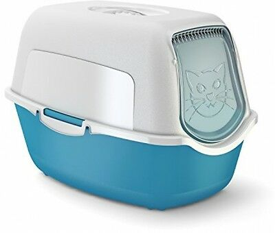 Rotho Cat Litter Box With Cover And Door - Easy To Clean Litter Box For Cats -