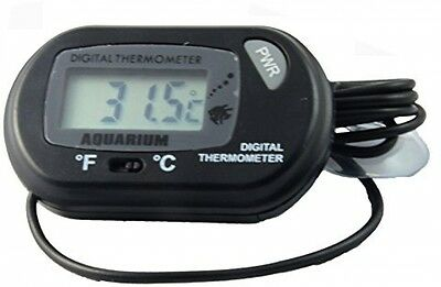 Doutop Aquarium Thermometer Fish Tank Thermometer LCD Digital With Suction Cup