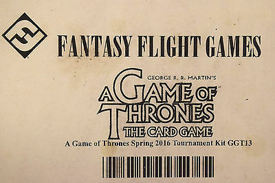 Fantasy Flight Games Game of Thrones Card Game 2016 Spring Tournament Kit Sealed