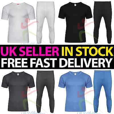 5 Pack Mens Thermal Long Johns Short Sleeve T-Shirts Vest Warm Underwear lot