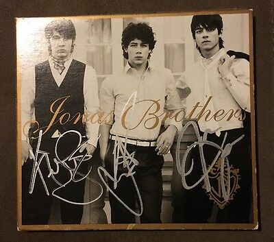 JONAS BROTHERS Hand Signed Autograph CD Album Cover Year 3000 S.O.S. Hold On