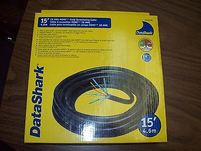 Data Shark 15' HDMI Field Termination Cable 28awg *New in the box*