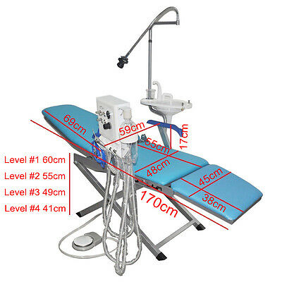 Portable Dental Folding Chair with Flushing System with Water Supply System C006