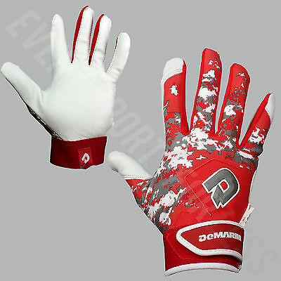 NEW Demarini Digi II Camo Baseball Batting Gloves (Pair) Youth Red Lists @ $35