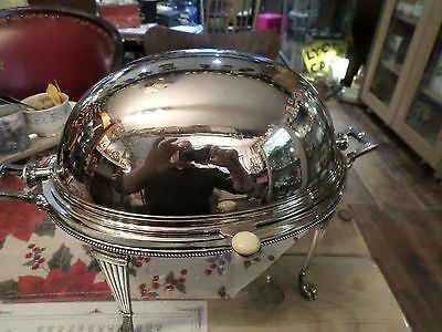 Antique ART NOUVEAU Silver Plated Bacon Muffin Breakfast Warmer Complete