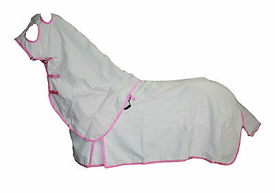 Axiom Polycotton Pink Ripstop Unlined Horse Hood Combo Set 5'9