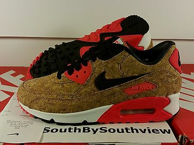 85ffbed1ca Nike Air Max 90 Cork Womens With Receipt 25th Anniversary Infrared 726485- 700 DS