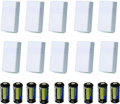 10 HONEYWELL ADEMCO 5816WMWH WIRELESS TRANSMITTERS (Battery, Magnetic)