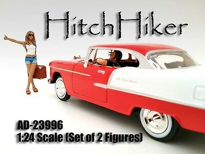 1/24 HitchHiker 2 piece set, Male & Female-for your shop/garage-AMERICAN DIORAMA