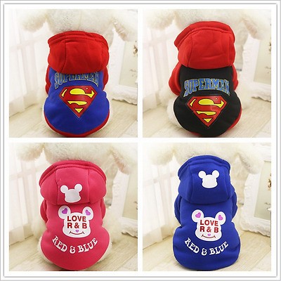 Dog Hoodie Sweater Pet Cat Puppy Coat For Small Pet Dog Warm Costume Apparel New