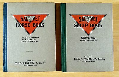 SAL VET HORSE BOOK 1913 & SHEEP  BOOK 1912 with fold-out Anatomical Charts nice