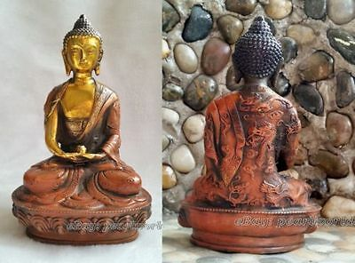 antique excellent old bronze carved statue Buddha dragon