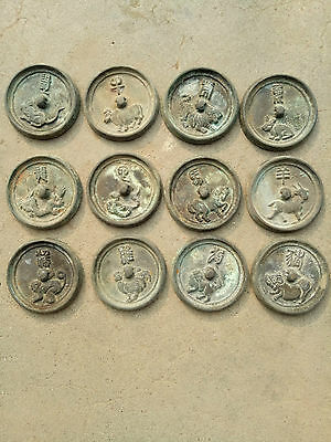 antique      The ancient Chinese zodiac bronze mirror (12)